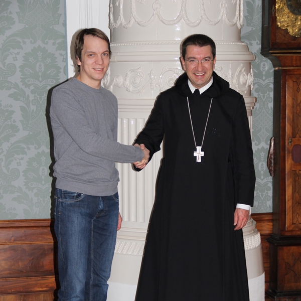 David Haas und der Erzabt des Stifts St.Peter